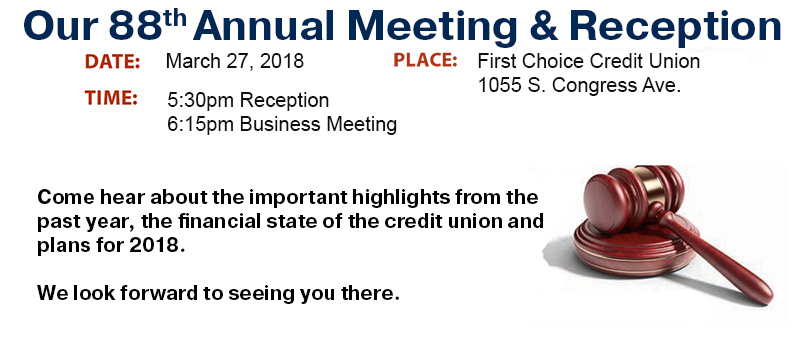 Our 88th Annual Meeting & Reception , March 27th