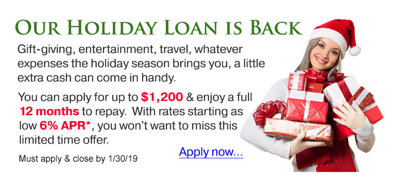 Our holiday loan is back