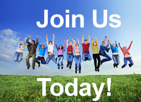 Group of people jumping in the air with text - Join Us Today!